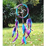 Dream Catcher ~ Handmade Traditional Feather Wall Hanging Home Decoration Decor Ornament Craft (Purple)