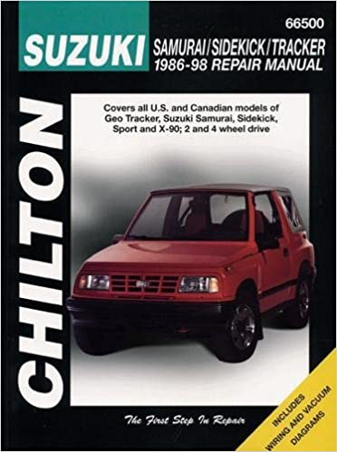 chilton suzuki samurai sidekick tracker 1986 1998 repair manual