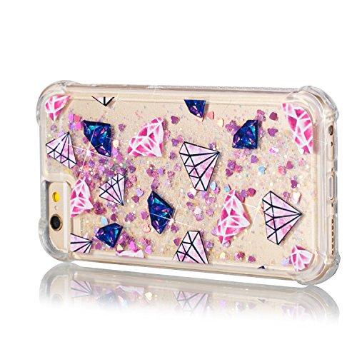 b591a3771ad Nuevo Funda iPhone 6S,Funda iPhone 6,TOUCASA® Glitter Brillante Liquida  Transparente TPU
