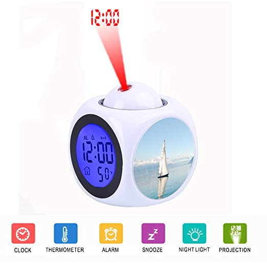 FDC - Despertador Digital con Pantalla LCD y proyector LED ...
