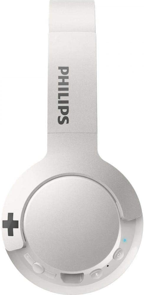 Philips SHB3075WT - Auriculares Inalambricos (con micrófono, aislantes de ruido, plegables, 12 h de reproducción) blanco