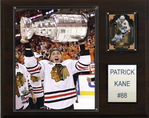 (NHL Patrick Kane with Stanley Cup Chicago Blackhawks Player Plaque)