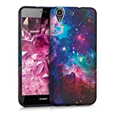 kwmobile TPU SILICONE CASE for Huawei Y6 Design space multicolor dark pink black - Stylish designer case made of premium soft TPU