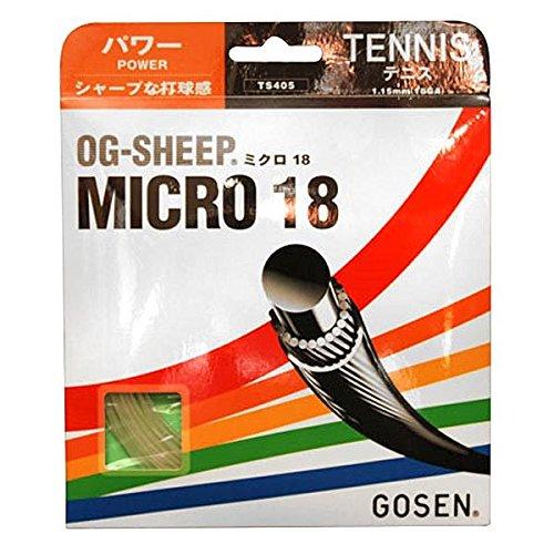 GOSEN TS405:SET OG-Sheep Micro Tennis Strings 18g 1.15mm