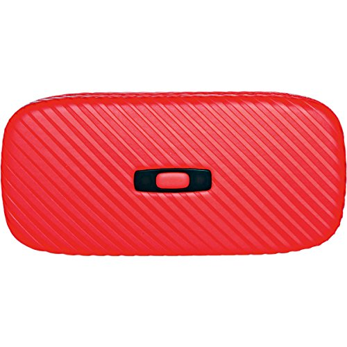 Metal Vault Sunglass Case (Oakley Square O Hard Adult Storage Case Sunglass Accessories - Tomato Red / One Size)
