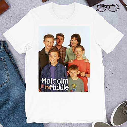Malcolm in The Middle 90s Childhood Family Tv American Family Sitcom Graphics Gift for Men Women Girls Unisex T-Shirt (White-2XL) (The Mom From Malcolm In The Middle)