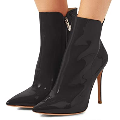 YDN Damens Pointed Toe High Heels ... Formal Ankle Stiefel ... Heels 7e7550