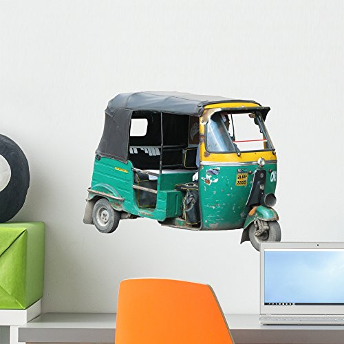 Rickshaw 02 with Shade Wall Decal by Wallmonkeys Peel and Stick Graphic (18 in W x 14 in H) - Pakistan W