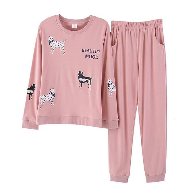 Meaeo Pijamas De Invierno Algodón De Manga Larga Lindo Perro De Dibujos Animados Mujeres Trajes Caseros Pijamas Ropa Pijama: Amazon.es: Ropa y accesorios