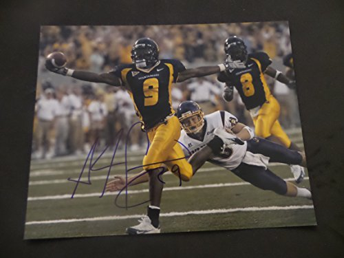 Adam Pacman Jones Signed University of West Virginia Mountaineers Autographed 8x10 Photograph