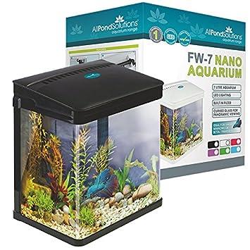 All Pond Solutions Nano Fisch Tank Aquarium Led-Lichtern, klein FW-7-BLACK