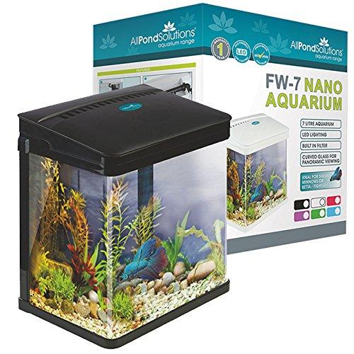 Todas Las soluciones del Tanque del Acuario Nano Fish Tank con Luces LED, tamaño pequeño, 14 L, Color Morado.: Amazon.es: Productos para mascotas
