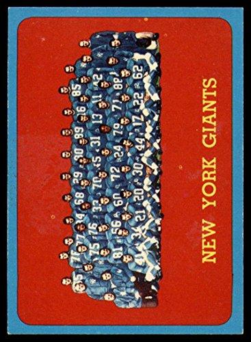 - Football NFL 1963 Topps #60 Giants Team NM NY Giants