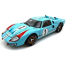 1966 Ford GT40 Mark II #1 Le Mans Miles/Hulme 1/18 Gulf Blue (Clean version)