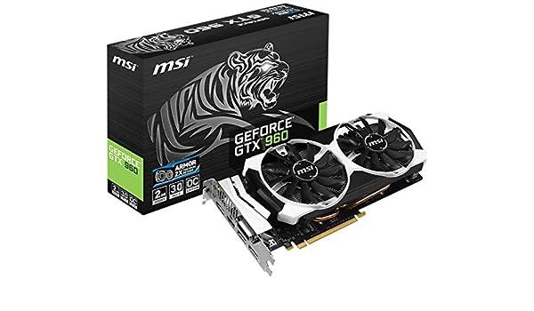 MSI GTX 960 2GD5T OC NVIDIA GeForce GTX 960 2GB - Tarjeta ...