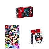 Nintendo Switch (Neon Red/Neon blue) + Joy-Con Wheel Pair + Mario Kart 8 Deluxe