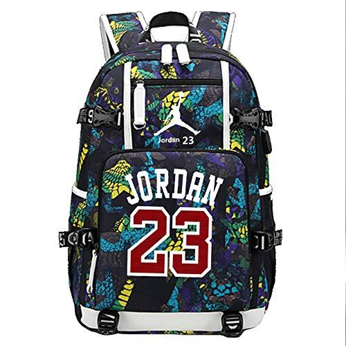 YOURNELO Basketball Player Rucksack School Backpack Bookbag (New Jordan Yellow)