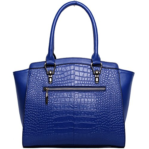 for Shoulder Tote Handbags Women Bag Satchel Purse 14 Leather Cluci blue Crossbody ExgpSfwqB