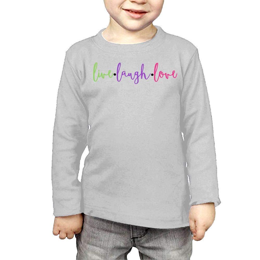 Little Boys Live Laugh Love 2 ComfortSoft Long Sleeve Shirt