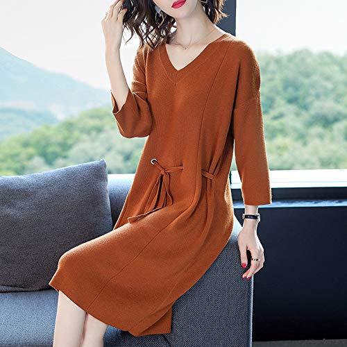 vestito v colore nove vestito capelli maglia ginocchia di puro un le XBR abito e accessori cordoncino xxl punti fwq5Ipx