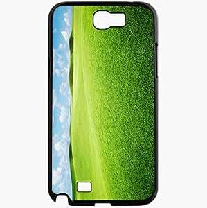 Unique Design Fashion Protective Back Cover For Samsung Galaxy Note 2 Case Green Landscape Wallpaper 12971 Nature Black