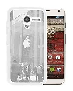 New Custom Designed Cover Case For Motorola Moto X With Ak Apple Shop Newyork White Cartier City (2) Phone Case