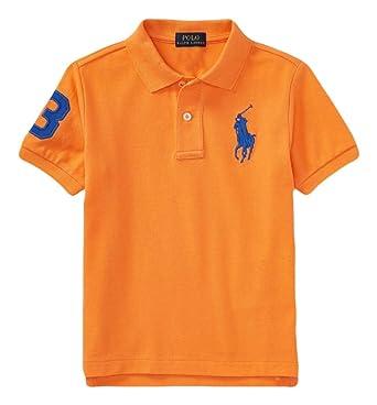 d9334a79 RALPH LAUREN Polo Boys' Embroidered Big Pony Cotton Mesh Short Sleeve Polo  Shirt (Thai