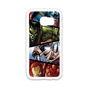 Custom Cover Case Fashion The Avengers Time For Samsung Galaxy S6 edge SXSEQ947445