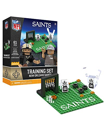 Oyo Sportstoys NFL New Orleans Saints Sports Fan Bobble Head Toy Figures, Black/tan, One -