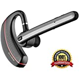 Bluetooth Headset, 17Hrs Talk Time Hands Free Wireless In Ear Earpiece Noise Reduction Microphone Mute Switch Headphones for Office/Trucker Driver/Business iPhone Samsung Android by Samnyte