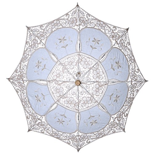 Tracfy Lace Craft Umbrella Vintage Parasol Bridal Wedding Photography Umbrella by Tracfy