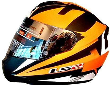 f5d580e3ac2 LS2 Full Face Premium Helmet FF 352 DYNO BLACK ORANGE MATT WITH MERCURY  VISOR 'XL' SIZE: Amazon.in: Car & Motorbike