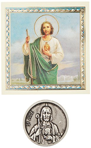 WJ Hirten 968-320 Saint Jude Pocket Coin with Stamped Holy Card ()