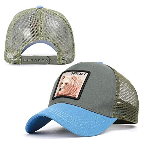 Exquisite Animal Cartoon Rabbit Embroidery Baseball Net Cap - Grizzly Strips Rabbit