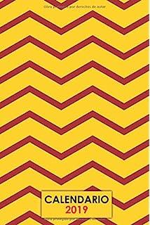 Calendario 2019: Colores bandera Española | Planeador semanal | Calendario 2019 de enero a diciembre
