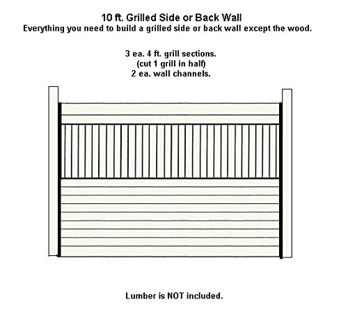 10ft Wide Horse Stall Grilled Side Wall. Black Steel by Country Manufacturing (Image #2)