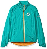 NFL Miami Dolphins Women's Batter Light Weight Full Zip Jacket, X-Large, Aqua