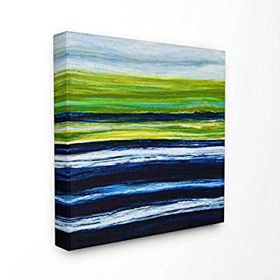 Stupell Industries Acrylic Resin Hills and Plains Sunset Abstract Canvas Wall Art, 24 x 24, Multi-Color