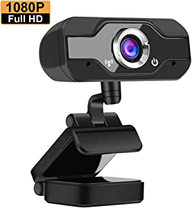 1080P Webcam with Microphone - Auto Focus USB 2.0 Web Camera for Desktop Laptop Computer, Video Camera for Live Streaming, Gaming, Network Teaching, Conference