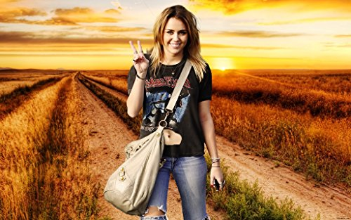 Strange Posters Singer Miley Cyrus 12 x 18 Inch Poster Ultra HD Multicolour Unframed Rolled Print Great Wall - Miley Cyrus Proof
