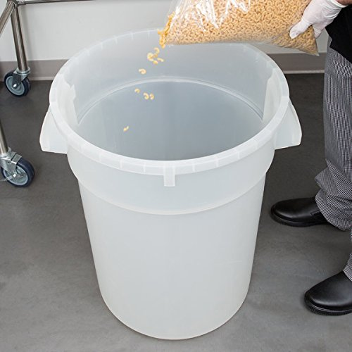 (TableTop King 3200CL Huskee 32 Gallon Clear Ingredient Bin/Trash Can)