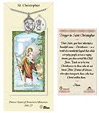 St. Christopher Prayer Card & Medal for Hockey Players