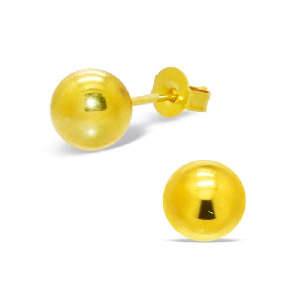 7mm Gold Stainless Steel Ear Studs So Chic Jewels