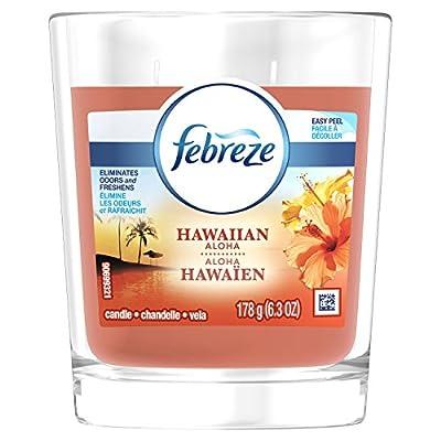 Febreze Scented Air Freshener Candle, Hawaiian Aloha, 6.3 Oz, 4 Count
