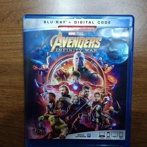 Avengers: Infinity War (Plus Bonus Content) No Digital Code