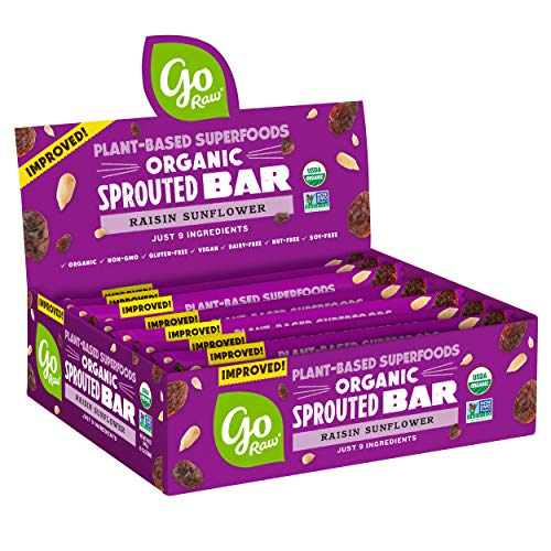Go Raw Seed Bars, Raisin Sunflower | Keto, Gluten Free, Organic, Superfood, Paleo (10 Bars)