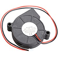 Alloet Brushless DC Cooling Blower Fan 2 Wires 5015S 12V 0.06A 50x15mm Quiet Sleeve-bearing Design