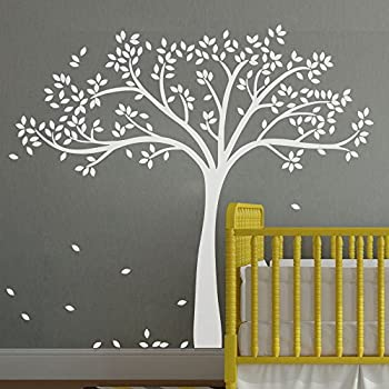 MairGwall Fall Tree Wall Decal Monochromatic Tree Decal Baby Nursery Wall  Decor 78 Part 40