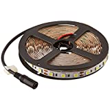 HitLights High Density LED Light Strip - Cool White 5000K SMD 5050 - 300 LEDs, 16.4 Ft Roll - 12V DC - 247 Lumens / 4 Watts per Foot - Indoor IP-30 - Adhesive Backed for Easy Installation - LED Tape Light