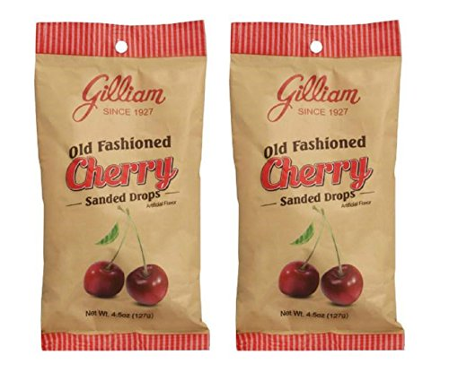 Gilliam Old Fashioned Cherry Flavored Sanded Drops Pack of 2 (4.5 oz. Bag) (Cherry) -